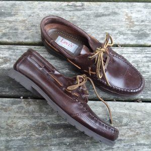 Levi's Leather Mocs Shoes Made in Brazil 8 M